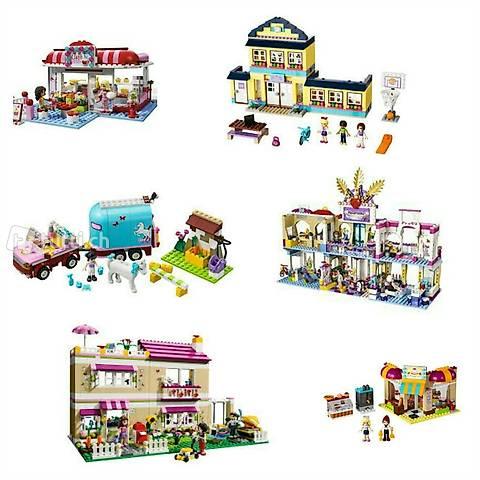Lego Friends Set #1: 6 Sets MEGA-Pack u. a. Einkaufszentrum,