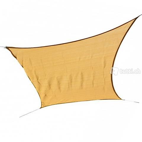 Vela da sole quadrato 5 x 5 m beige (Consegna gratuita)