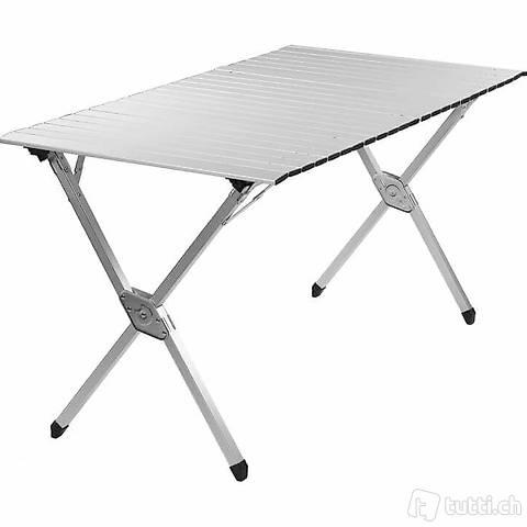 Tavolo da campeggio, alluminio, 141 x (Consegna gratuita)