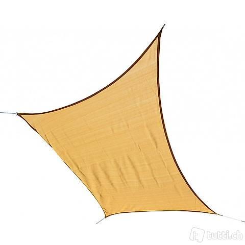 Vela solare 6,1 x 4,8 m beige (Consegna gratuita)