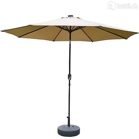 Ombrellone con LED 300 cm marrone (Consegna gratuita)