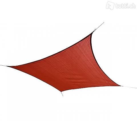 Sole vela quadrato 5x5m rosso (Consegna gratuita)
