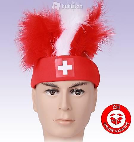 Suisse Fan Hat Bandeau allez suisse football hockey