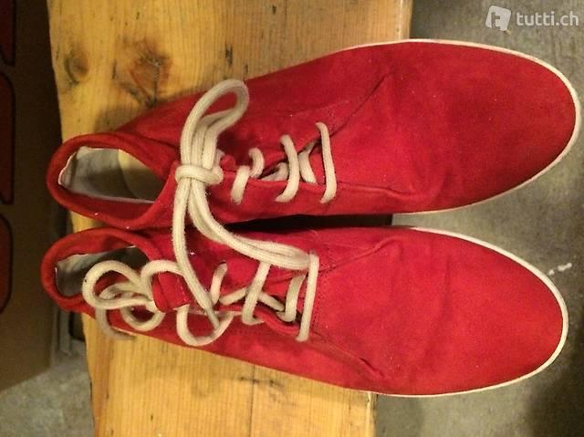 Paul Green Schuhe Sneaker Hightop rot Damen Grösse 4 37 in