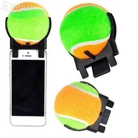 Hundefokus Tennisball Handy