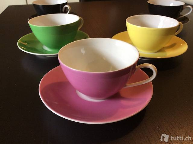 6 tazze da thè vintage