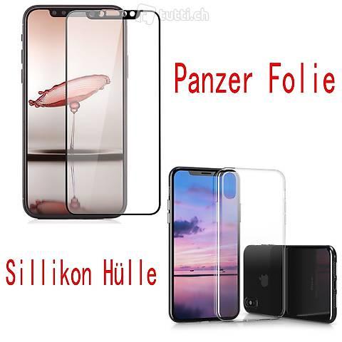 Portofrei 2in1  Iphone X Cover +Schwarz Panzerglas