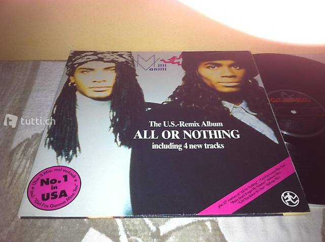 1lp: MILLI VANILLI - All or Nothing