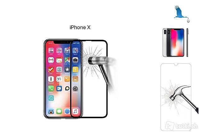 iPhone X, Verre de protection. Neuf port inclus