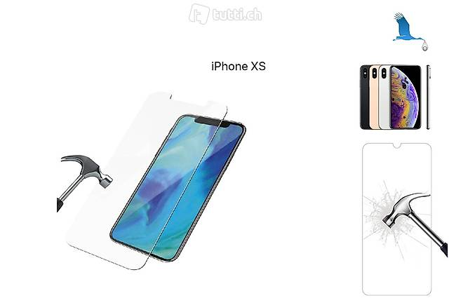 iPhone Xs, Verre de protection. Neuf port inclus