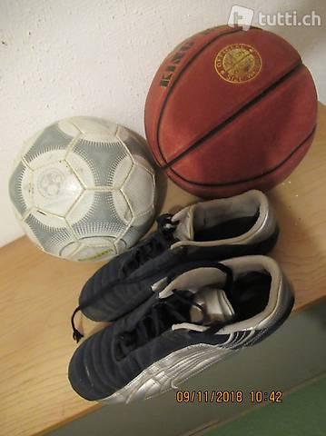 Fussball , Basketball, und Puma Fussballschuhe