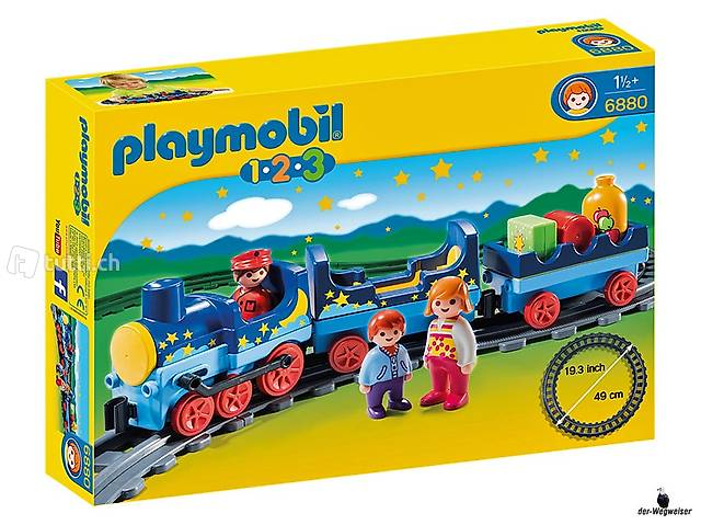 Train étoile Playmobil 6880 avec cercle de rails