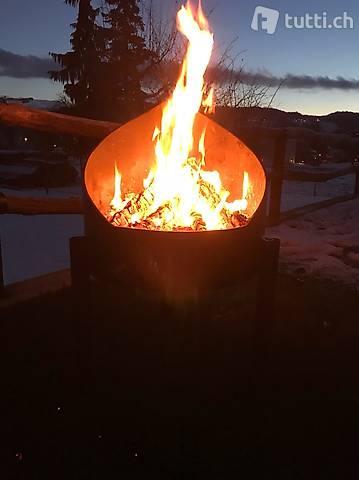 Feuerschale, Grill aus Stahl, Feuerstelle Flame