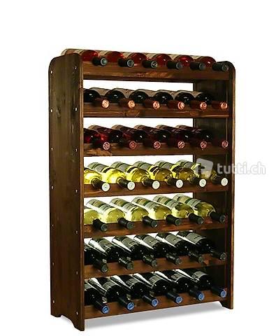 Weinregal für 42 Flaschen - Braun (Gratis Versand)