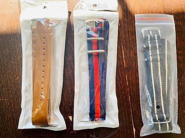 3 NATO Strap Uhrenband 20mm neu