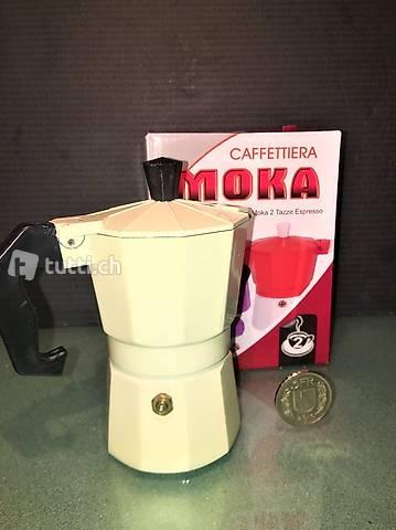 Mini Moka espresso per single 2 tazze, cosi' risparmi caffe'