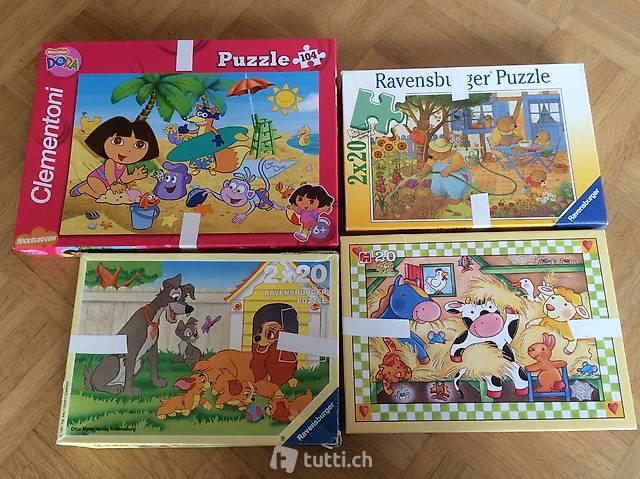 Puzzles Dora , Bob der Baumeister, 2 x Winnie the Poh