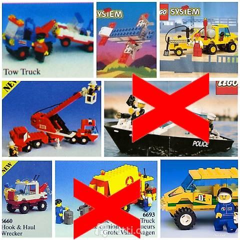 Lego 6x Vintage Sets City, Boot, Trucks, Feuerwehr