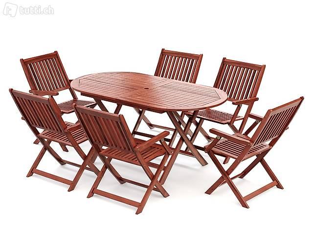 Set di mobili da giardino in legno (Consegna gratuita) 3