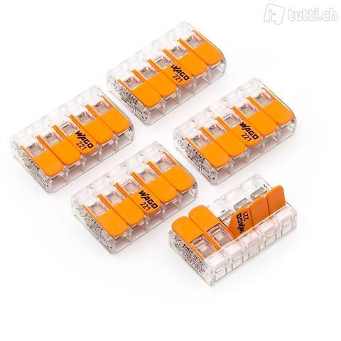 5 Stk. 221 Wago Verbindungsklemme 5p 0.2mm² bis 4mm²
