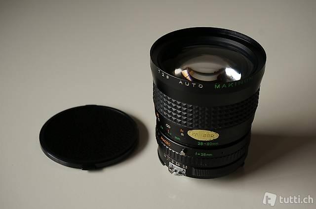 Makinon Auto 28-80mm f3.5-4.5 für Nikon mit Makrofunktion
