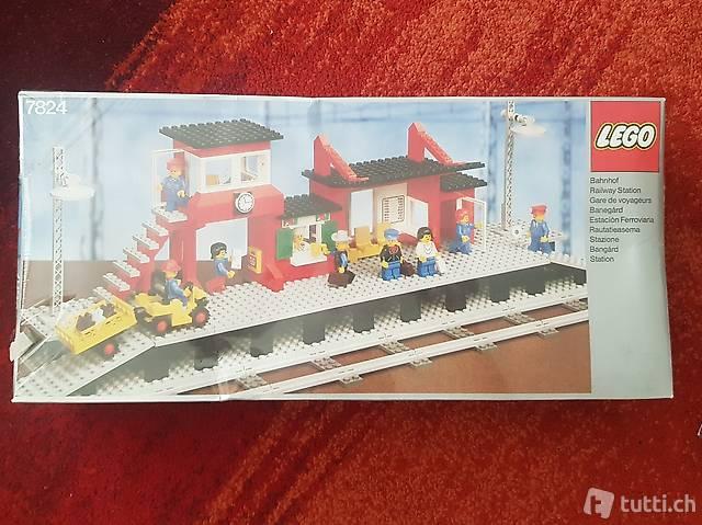Lego OVP 7824 9V Train Station (1983)