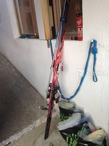 Super Skier von Rossgnol und Head mit Skischuhen komplett