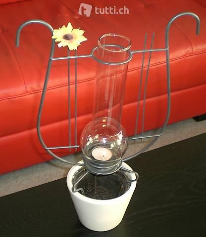 Blumentopf für Ranken mit Kerzenglas