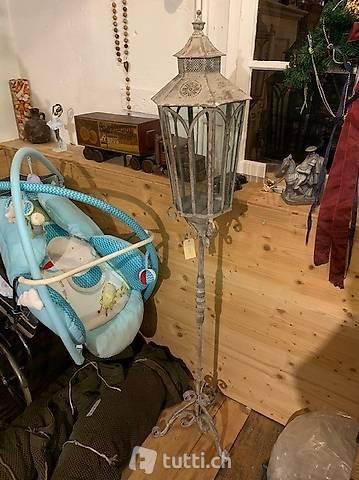 Laterne mit Stab und Fuss, Höhe 160 cm nostalgisch für Kerze