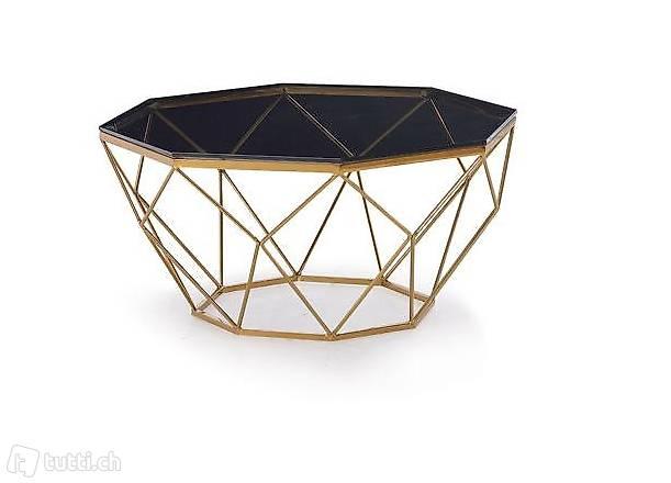 Design Couchtisch Glastisch Metall Wohnzimmer Tische