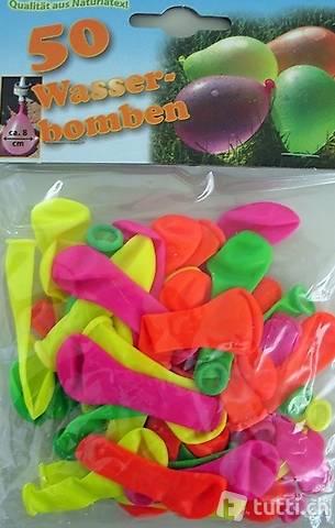 Neon Wasserballone / Wasserbomben Neon 50er Pack