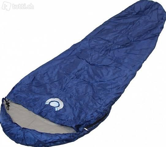 Mumienschlafsack Schlafsack Blau (Gratis Versand)