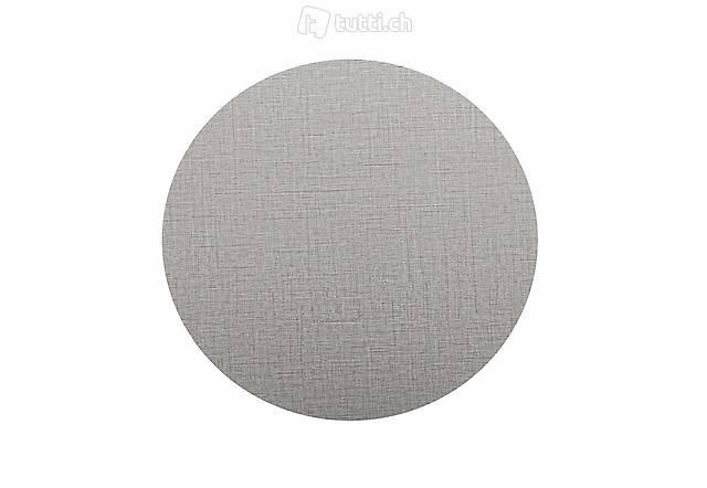 Tischplatte rund 50 cm grau (Gratis Versand)