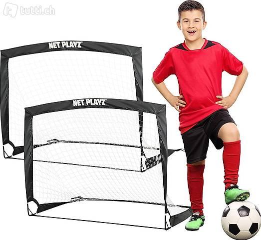 2er Set faltbar Tor - Fußball-Tor Pop Up