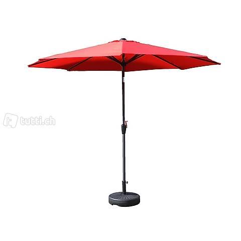 Ombrellone rosso 300 cm (Consegna gratuita)