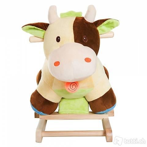 Schaukeltier Schaukelpferd Kuh mit Sound (Gratis Versand)