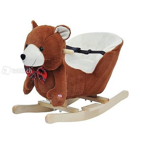 Schaukeltier Schaukelpferd Bär mit (Gratis Versand)