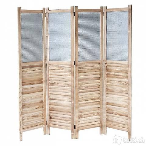 Paravent Trennwand 170x160x2cm ~ Holz (Gratis Versand)