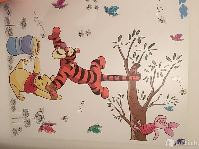 Winnie Pooh Wandtattoo/ Deko für Babys, auf Holz,abwaschbar ...