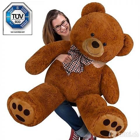 Teddybär 165cm STEHEND Riesen Teddy (Gratis Versand)