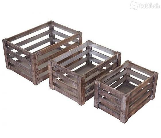 Set di 3 scatole di legno scatola di (Consegna gratuita) 3