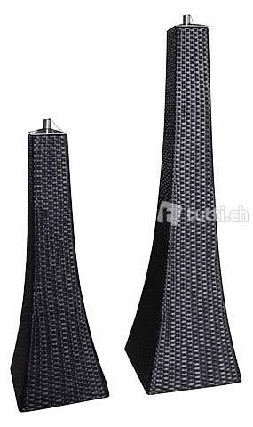 Rattanlampe 2er Set Fackel groß: 30 cm, Fackel klein: 2 x F