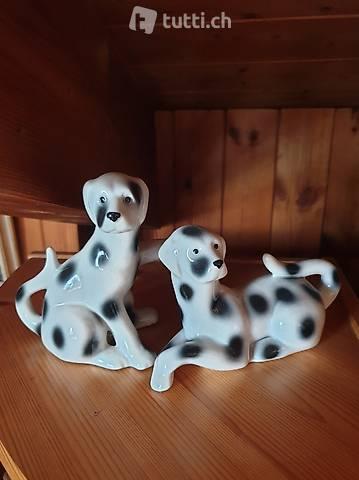 Cani Dalmata in porcellana