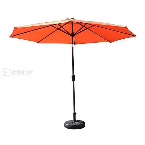 Ombrellone arancione 300 cm (Consegna gratuita)