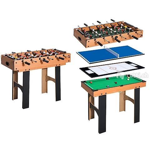 4in1 Spieletisch Tischfussball (Gratis Versand)