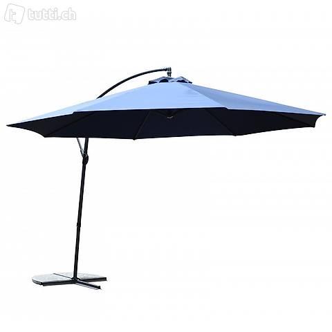 Ombrellone semaforico 350cm blu (Consegna gratuita)