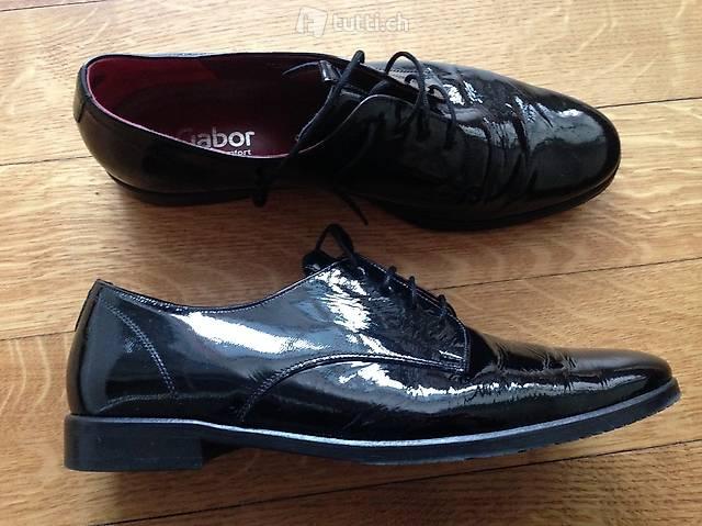 Neuwertige Schwarze Schuhe Lack 39 Gabor in St. Gallen