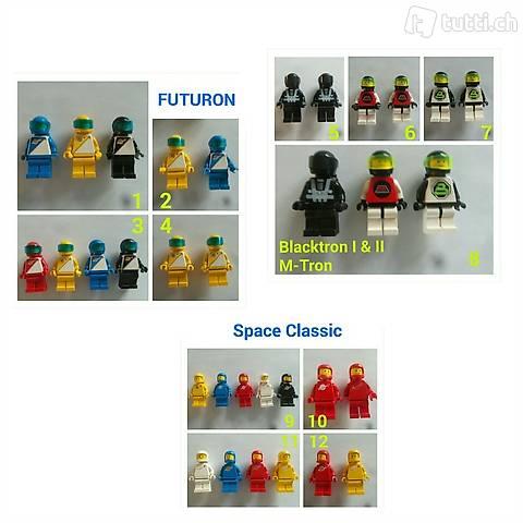 Lego Space Minifiguren EINZELN - Classic Futuron M-Tron Blac