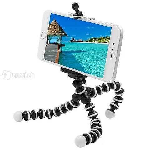 Kleines Stativ für Kameras + Smartphones