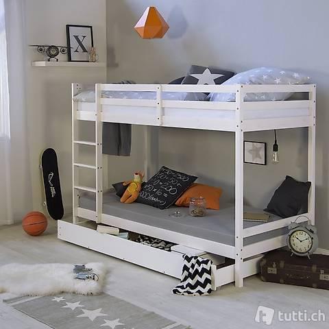Kinderbett Etagenbett Doppelstockbett Hochbett Bettkasten
